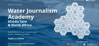 KAS–REMENA Water Journalism Academy 2020 for  Media Professionals from the MENA region and Turkey