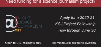 Knight Science Journalism Project Fellowships 2020-21 for Journalists in the US (Funded)