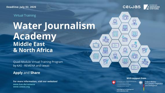 Konrad-Adenauer-Stiftung Water Journalism Academy Middle East & North Africa 2020