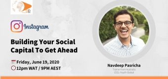 Building Your Social Capital To Get Ahead – OD Live with Navdeep Pasricha