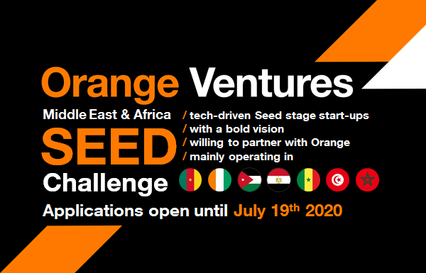 Orange Ventures Africa & Middle East Seed Challenge 2020 (Up to €150,000)