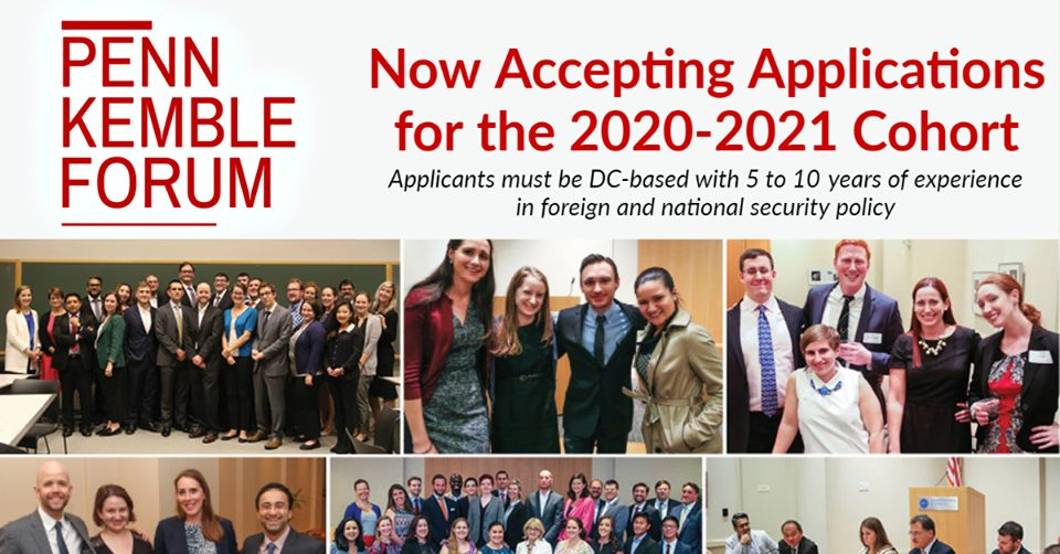 Penn Kemble Forum on Democracy Fellowship 2020-2021 for Young Foreign Policy Professionals in the US