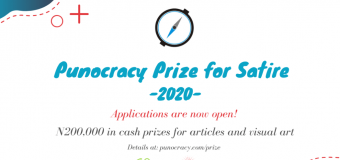 Punocracy Prize for Satire 2020 for Nigerians (N200,000 in cash prizes)