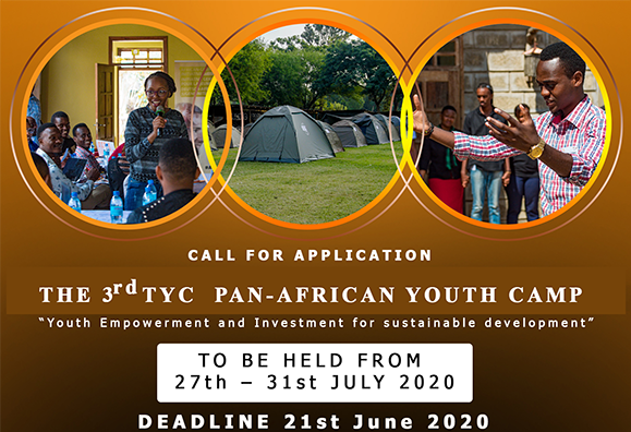 Call for Applications: TYC 3rd Pan African Youth Camp 2020 for Young Changemakers