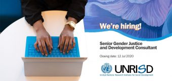 UNRISD is hiring a Senior Gender Justice and Development Consultant