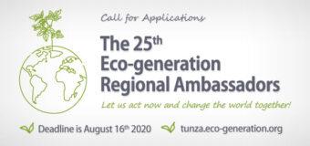 25th Tunza Eco-generation Regional Ambassadors Program 2020