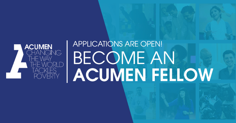 Acumen Fellowship in Bangladesh 2021 for Emerging Leaders