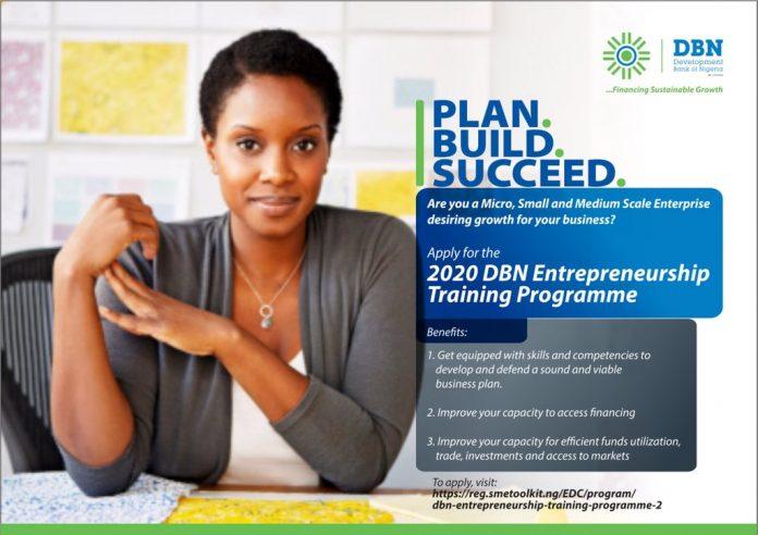 Development Bank of Nigeria Entrepreneurship Training Program 2020