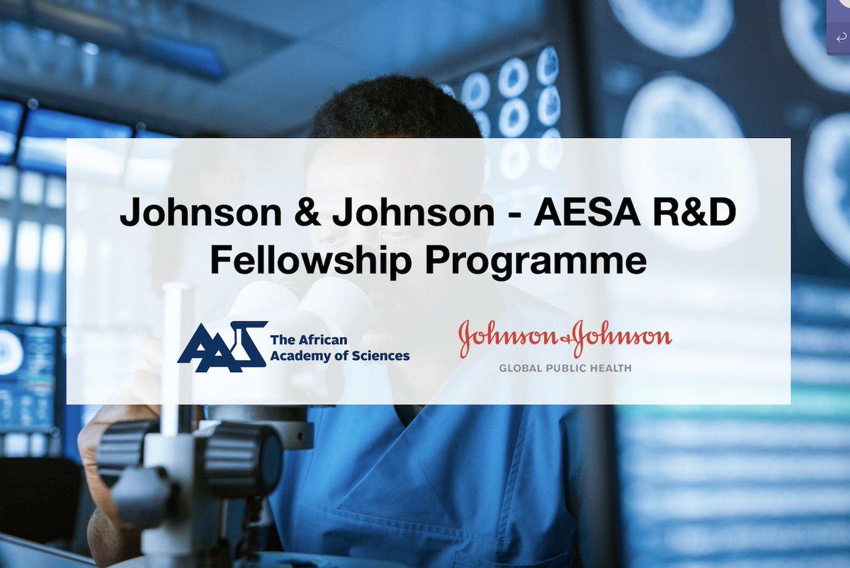 Call for Applications: Johnson & Johnson-AESA Research & Development Fellowship Programme 2020