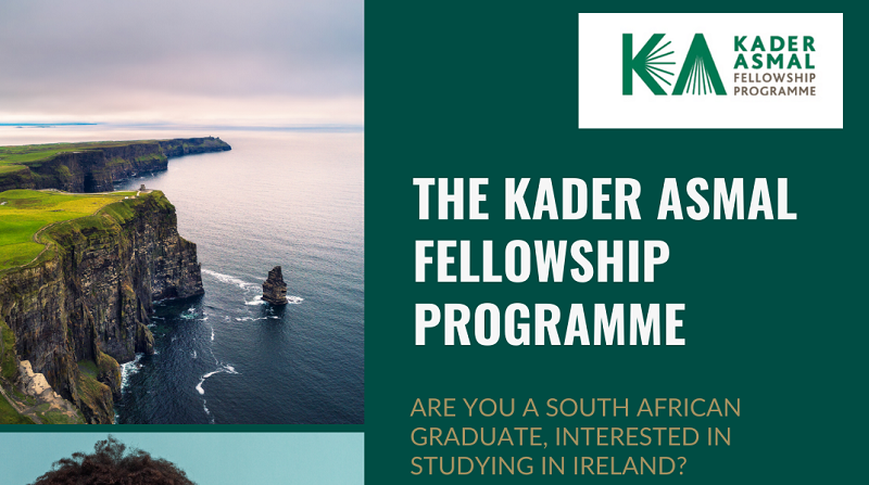 Kader Asmal Fellowship 2021/2022 for Postgraduate Study in Ireland [South Africans Only]