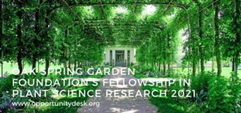 Oak Spring Garden Foundation's Fellowship in Plant Science Research 2021 (Funding available)