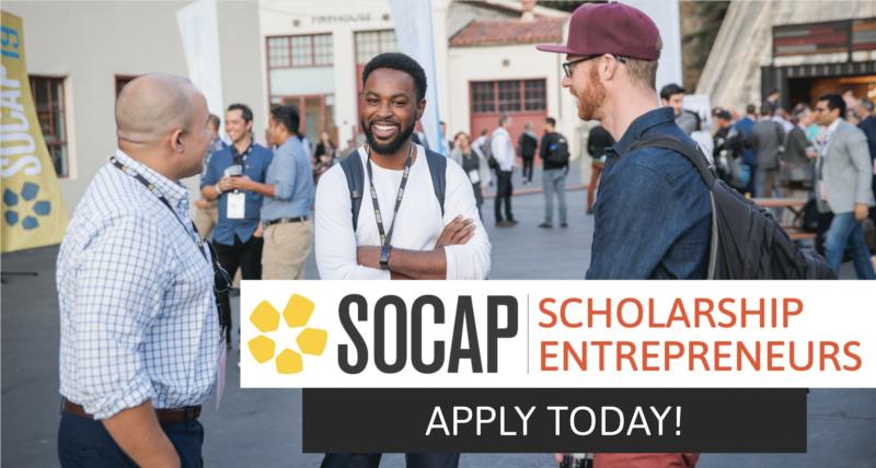 Call for Applications: SOCAP20 Virtual Scholarship for Social Entrepreneurs