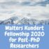 Walters Kundert Fellowship 2020 for Post-PhD Researchers (£10,000 award)