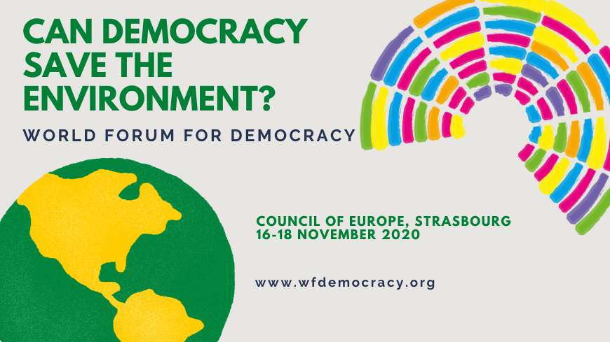 World Forum for Democracy 2020 – Youth Delegation (Fully-funded to Strasbourg)