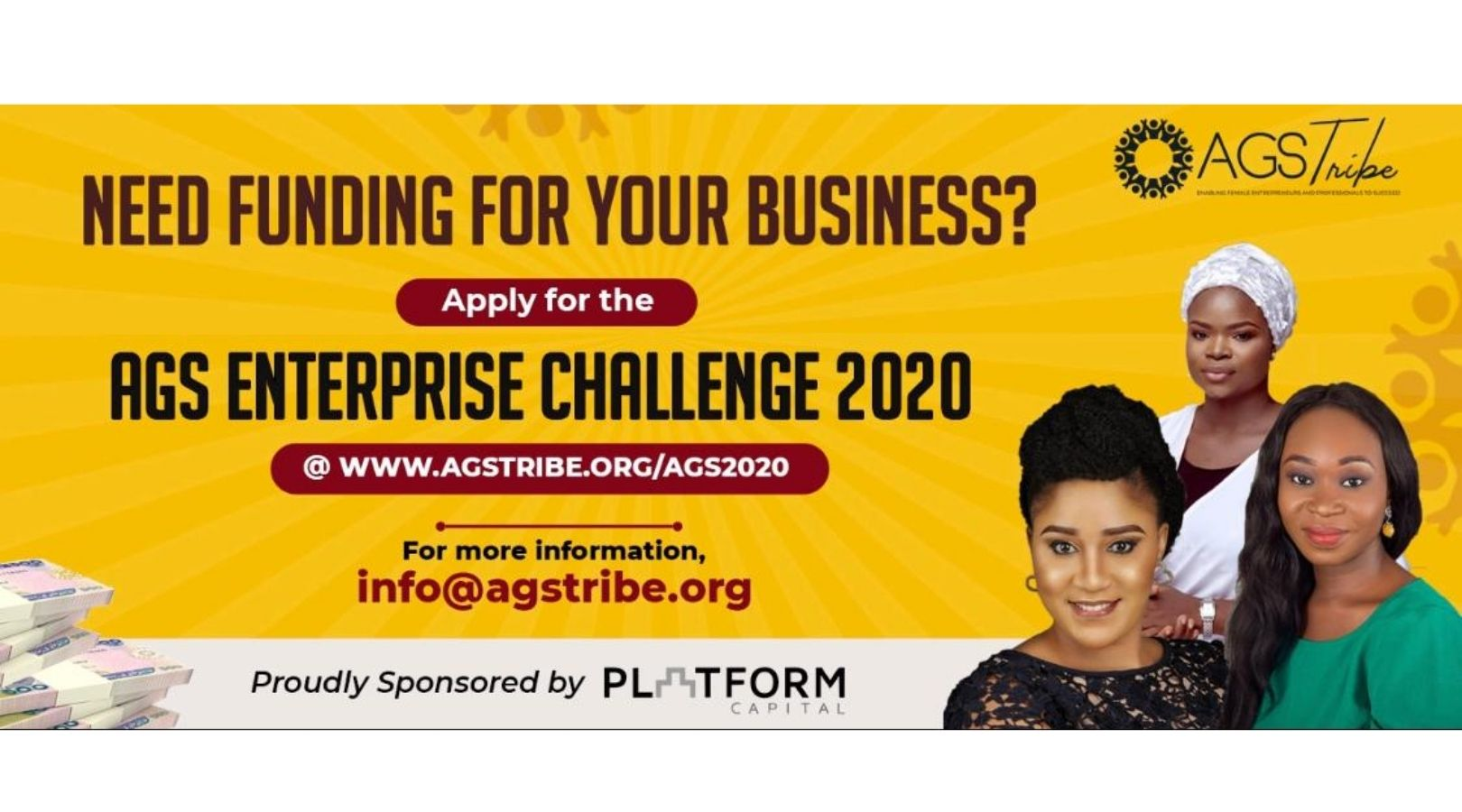 AGS Enterprise Challenge 2020 for Female Entrepreneurs in Nigeria (N3,000,000 in prizes)