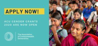 Association of Commonwealth Universities (ACU) Gender Grants 2020