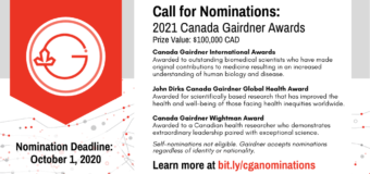Canada Gairdner Awards 2021 for world-leading Researchers ($100,000 CAD)