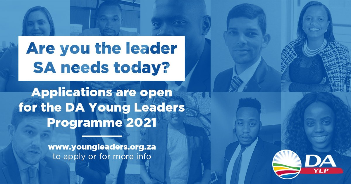 Democratic Alliance Young Leaders Programme Class of 2021 [South Africans only]
