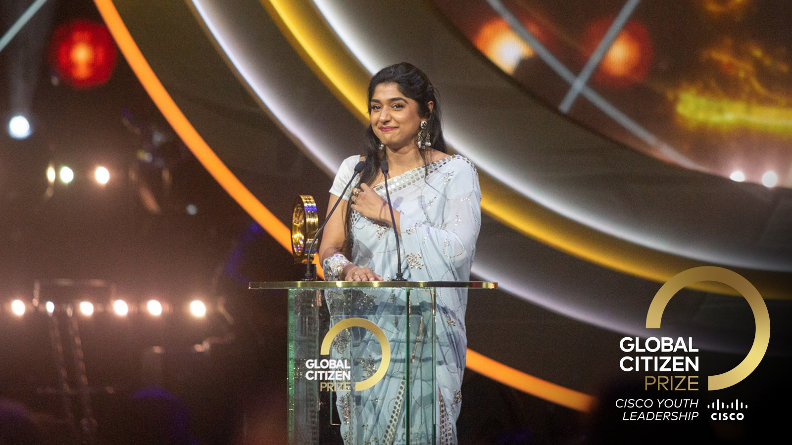 Global Citizen Prize: Cisco Youth Leadership Award 2020 (US$250,000 prize)