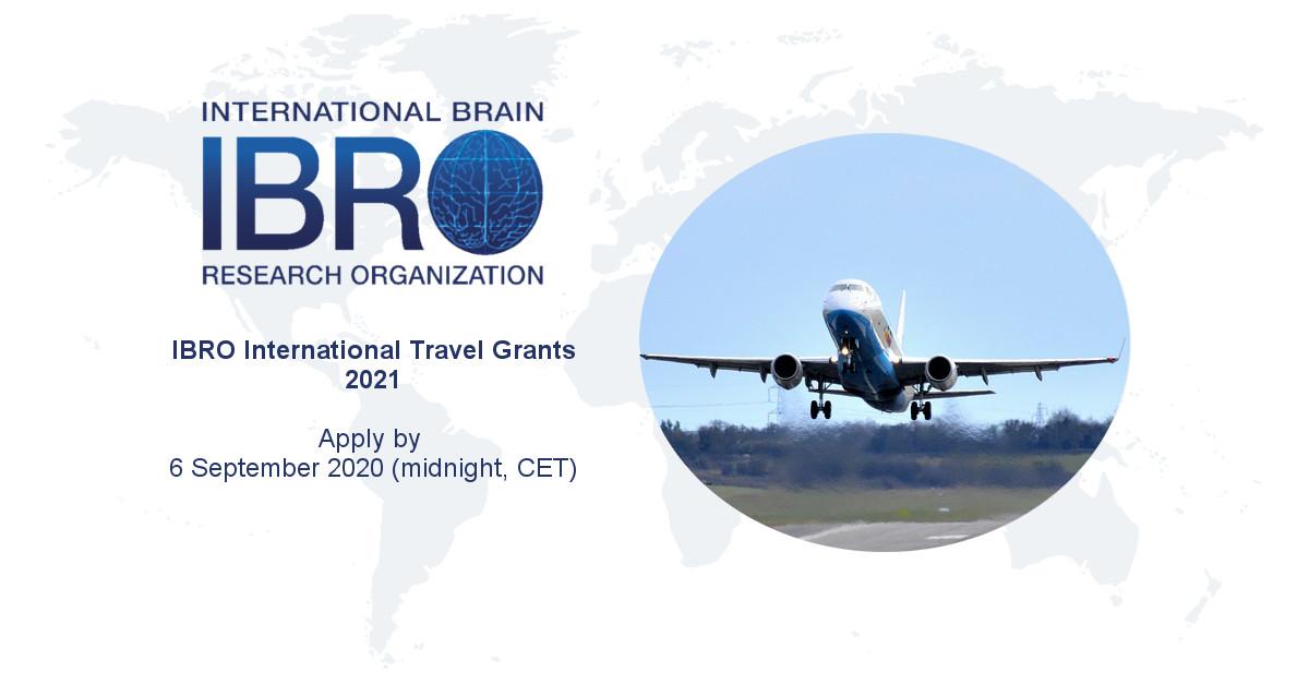 IBRO International Travel Grant Program 2021 for Neuroscientists (up to €1,800 Euros)