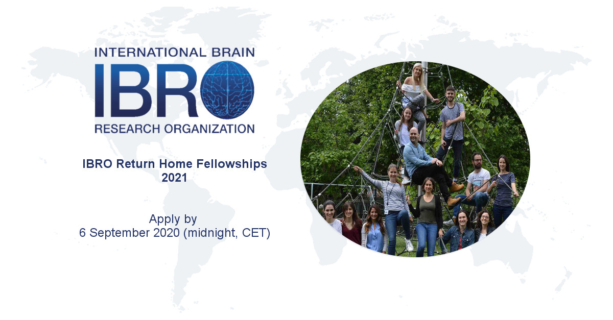 International Brain Research Organisation (IBRO) Return Home Fellowships 2021 (up to 20,000 Euros)