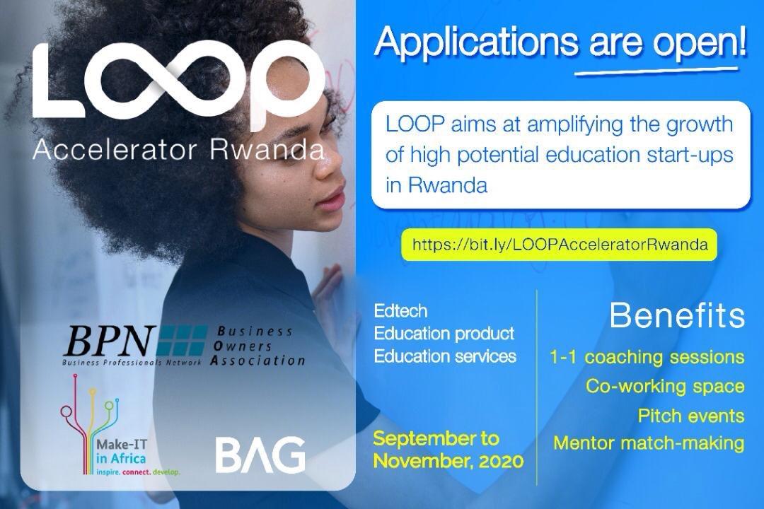 LOOP Accelerator Rwanda Program 2020 for Education Startups