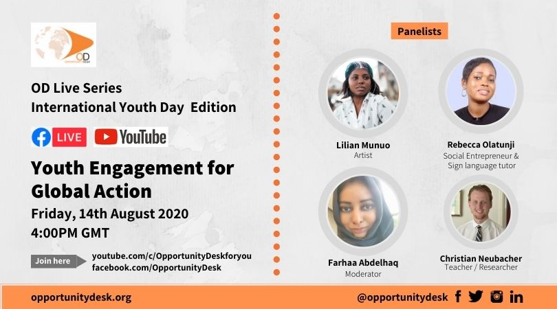 OD Live Panel on Youth Engagement for Global Action – August 14, 2020