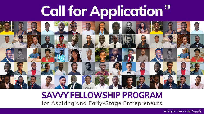 Savvy Fellowship Program 2020 for Aspiring and Early-Stage Entrepreneurs