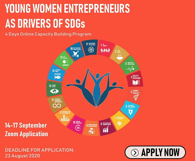 Call for Applications: Young Women Entrepreneurs as Drivers of SDGs Online Capacity Building Program 2020