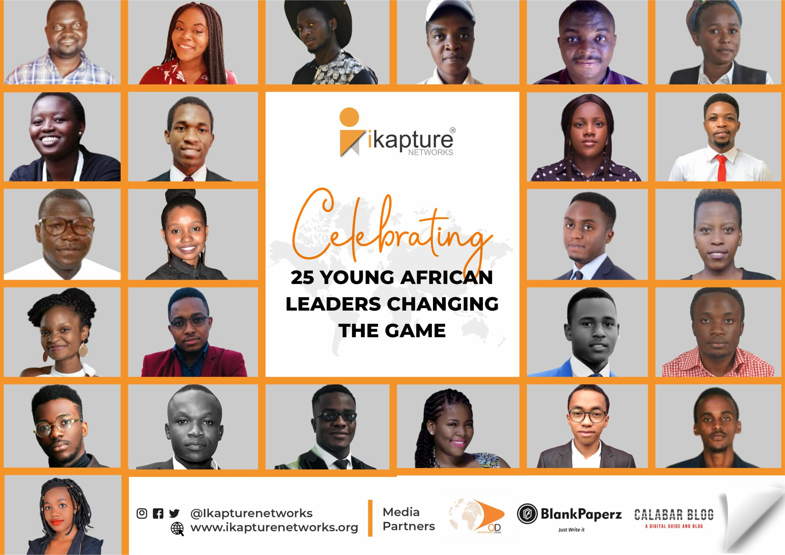 Announcing the iKapture 25 Under 25 Young Leaders Changing the Game in Africa