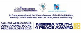 Building Blocks for Peace Foundation Nigeria Youth4Peace Awards 2020