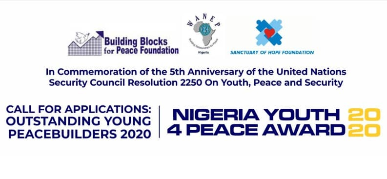 Building Blocks for Peace Foundation Nigeria Youth4Peace Awards 2020