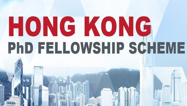 Hong Kong PhD Fellowship Scheme (HKPFS) 2021/2022 (stipend of HK$319,200)