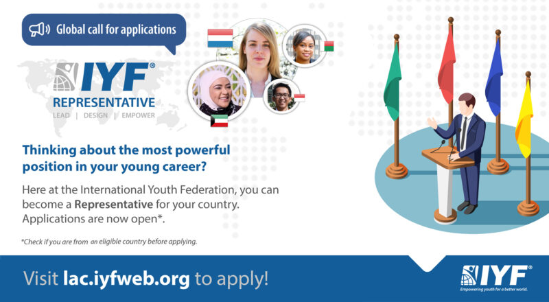 Apply to become an International Youth Federation (IYF) Representative
