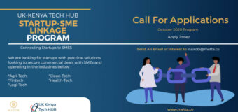 Call for Applications: UK-Kenya Tech Hub Startup-SME Linkage Program 2020