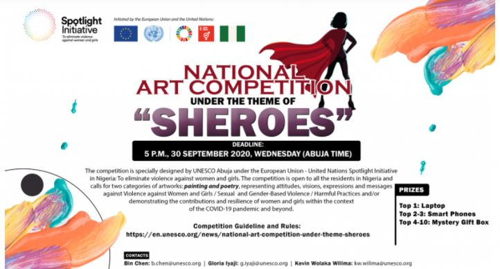 UNESCO Abuja National Art Competition 2020 for Nigerians