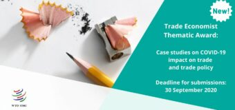 Call for Papers: WTO Trade Economist Thematic Award 2020 (CHF 5,000 prize)