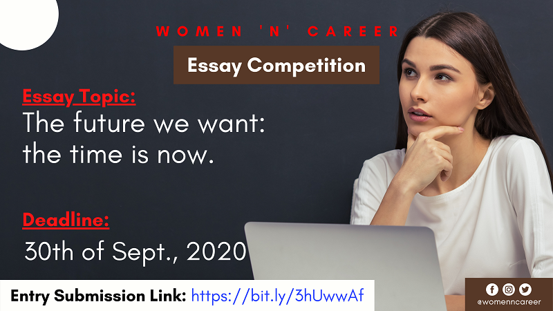 """Women and Career """"Our Voice, Our Equal Future"""" Essay Competition 2020"""