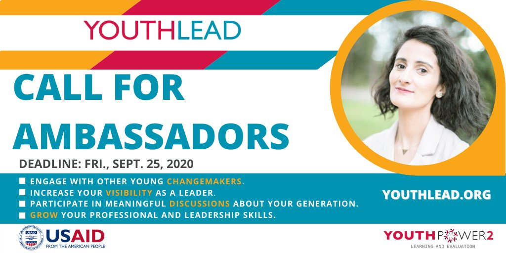 YouthLead Ambassador Program 2020 for Young Changemakers