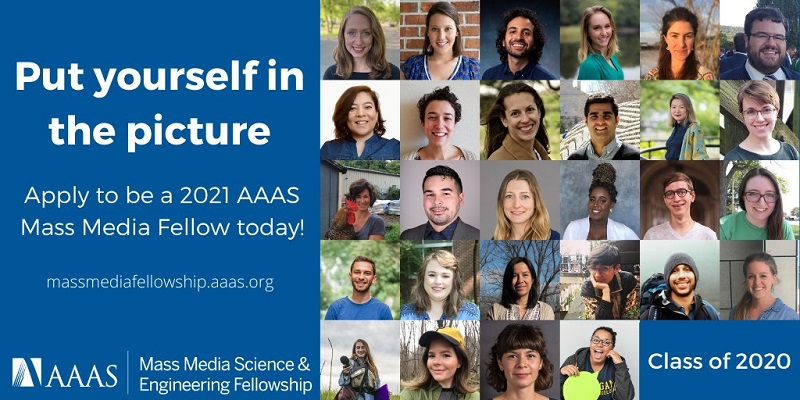 AAAS Mass Media Science & Engineering Fellowship Program 2021 for Students in the U.S. (stipend of $7000)