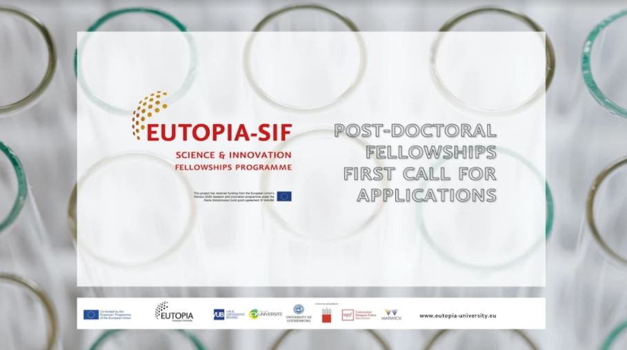 EUTOPIA Science and Innovation Fellowship Programme 2020-2021 (Funded)