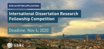 SSRC Mellon International Dissertation Research Fellowship (IDRF) 2021 for Scholars in the U.S. (Funded)