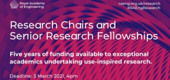 RAEng Research Chairs and Senior Research Fellowships 2021 (Funded)