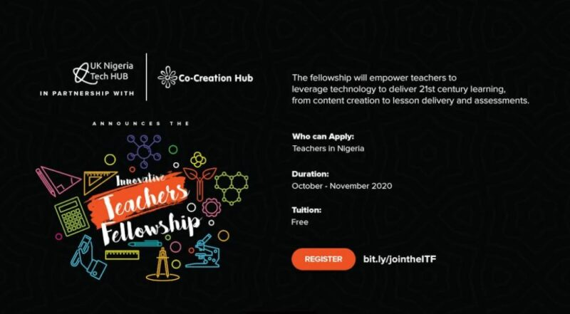 UK-Nigeria Tech Hub/CcHub Innovative Teachers Fellowship 2020