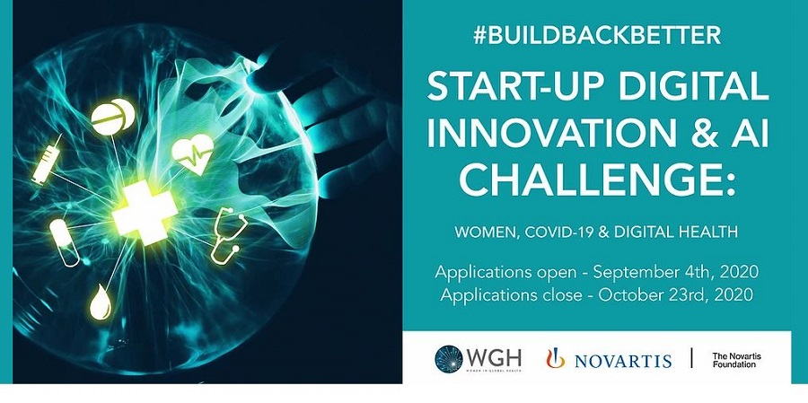 WGH/Novartis Foundation #BuildBackBetter Digital Innovation and AI Challenge 2020 (up to $15,000 prize)