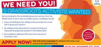 Call for Applications: CIVICUS Co-creation Team of Grassroots Activists