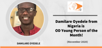 Damilare Oyedele from Nigeria is OD Young Person of the Month for November 2020!