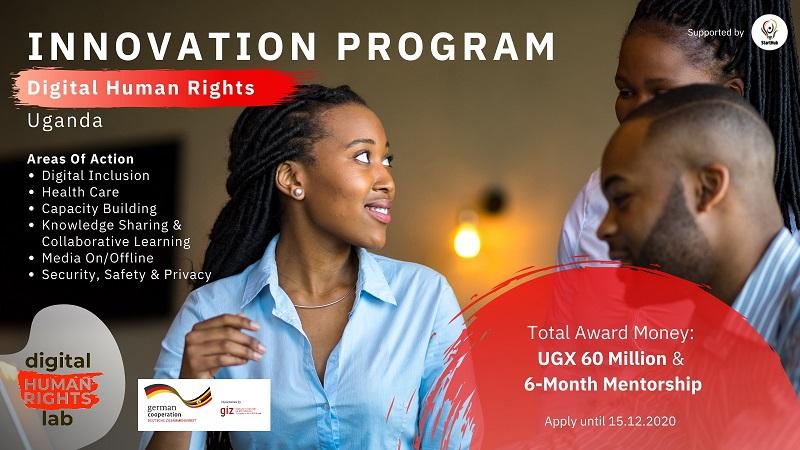 Digital Human Rights Lab Innovation Program 2021 for Human Rights Defenders [Uganda only]