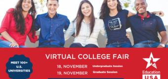 Register to attend the EducationUSA Virtual College Fair 2020 (FREE)
