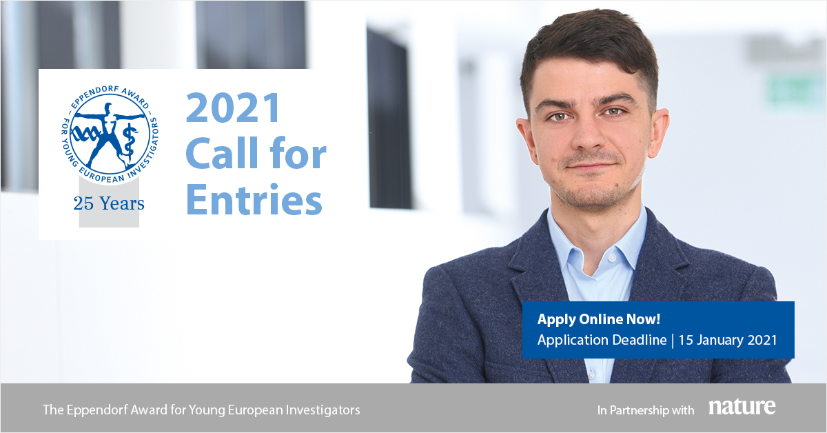 Eppendorf Award for Young European Investigators 2021 (€20,000 Euro prize)